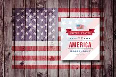 Composite image of independence day graphic - stock illustration