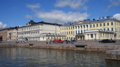 General view, Helsinki. Wide pan left Stock Footage