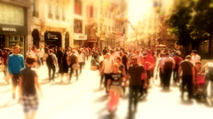 Taksim Istiklal Street at eventide day Stock Footage