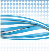bavarian ribbon flag on background - stock illustration
