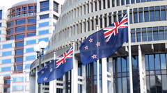 Wellington Parliament Buildings New Zealand Stock Footage