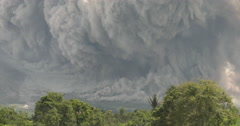 Stock Video Footage of Large Volcanic Ash Cloud As Sinabung Volcano Erupts