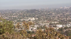 Aerial View of Los Angeles Higher Class Neighborhood 02 Stock Footage