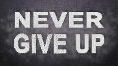 Never Give UP. Motivational Intro Logo. Animation Text. Inpired  Titles - stock footage