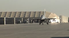 100th Expeditionary Fighter Squadron F-16 fighting falcon operations Stock Footage