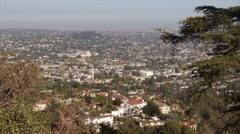 Los Angeles Higher Class Neighborhood Aerial View Stock Footage
