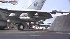 Flight Deck Operations from USS George H.W. Bush Stock Footage