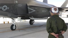 F-35B Lightning II operations Stock Footage