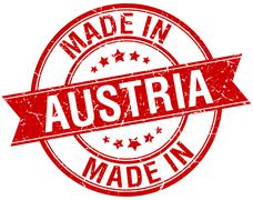Stock Illustration of made in Austria red round vintage stamp