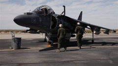 AV-8B Harrier jump jet Refueling Stock Footage