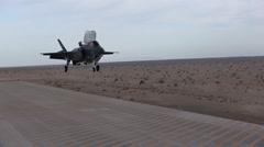 F-35B Lightning II joint strike fighter training at MCAS Yuma - stock footage