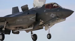 F-35B Lightning II joint strike fighter training at MCAS Yuma Stock Footage