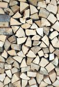Stock Photo of pieces of wood for ecological heating