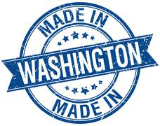 Stock Illustration of made in Washington blue round vintage stamp