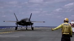Operational testing F-35B Lighting II Joint Strike Fighter - stock footage