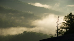 Mountain Fog Time-Lapse - stock footage