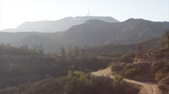 View of Hollywood Hills, Los Angeles, California, Hiking Trails Stock Footage