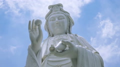 Guanyin wide shot - stock footage