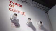 Types of coffee - stock footage