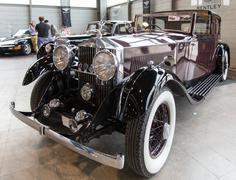 exhibition of antique and sports cars - stock photo