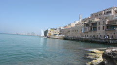 Old port of Jaffa in Tel Aviv Israel Stock Footage
