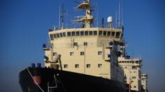 Icebreakers moored in Helsinki, detail Stock Footage