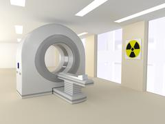 CT room in a hospital Stock Illustration