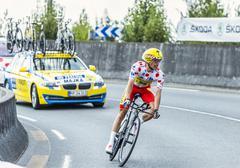The Cyclist Rafal Majka - Tour de France 2014 Stock Photos