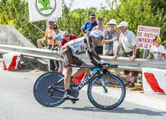 The Cyclist Jean-Christophe Peraud - stock photo