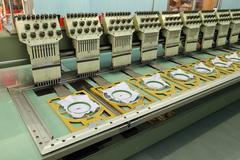 Machine embroider - stock photo