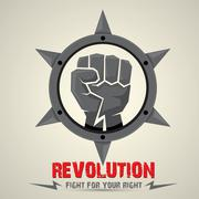 Clenched fist. vector fist icon. revolution fist Stock Illustration
