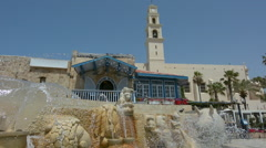 The Zodiac Fountain in Kedumim Square in Old Jaffa, Tel Aviv, Israel. Stock Footage