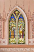 In side the Roman Catholic Diocese or Cathedral of the Immaculate Conception, - stock photo