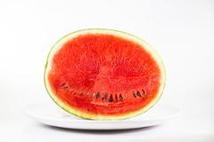 Watermelon on white background Stock Photos