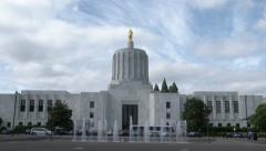 Oregon State Capital Stock Footage