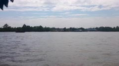 Boat on mekong river Stock Footage