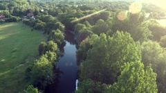 Stunning aerial shot over lake Stock Footage