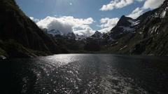 Boating in Trollfjorden Lofoten Stock Footage