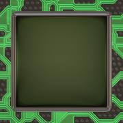 Stock Illustration of LCD screen on circuit generated texture