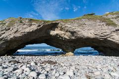 The Arches Provincial Park in Newfoundland and Labrador, Canada - stock photo