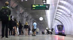 Travel People in Underground station 1 Stock Footage