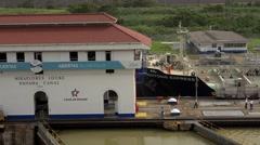 Cargo And Logistics Panama Canal Miraflores Locks-12 - stock footage