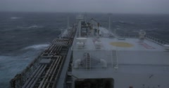 LPG tanker at stormy sea. Stock Footage
