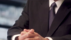 Successful Business professional video chat using wearable technology - stock footage