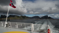 Leaving Lofoten by ferry Stock Footage