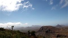 Timelapse landscape Cape Verde Stock Footage