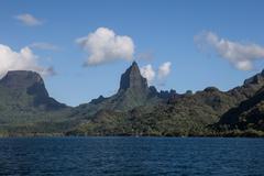 French Polynesian Island of Moorea - stock photo