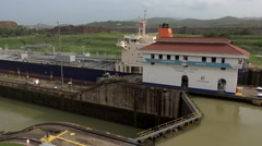 Cargo And Logistics Panama Canal Miraflores Locks-16 - stock footage