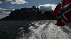Leaving Lofoten by boat Stock Footage