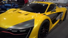 4k Renault Sport R.S. 01 Alpine at Motorshow Stock Footage